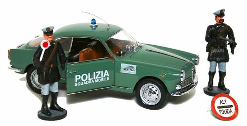 Miniminiera Giulietta Sprint Polizia
