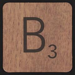 Scrabble Coaster Letter B