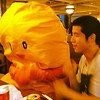Photo:沖縄の天ぷらにダメダメされるYU君。 By