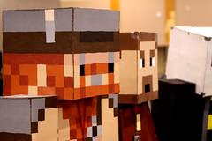 Minecraft cosplayers
