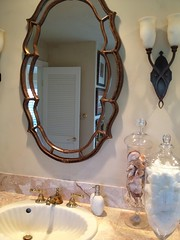 "Out bathroom vanity, mixing metals • <a style=""font-size:0.8em;"" href=""http://www.flickr.com/photos/79686536@N02/7310275720/"" target=""_blank"">View on Flickr</a>"