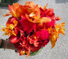 Red, Pink & Orange Bouquet