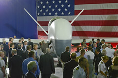 Northrop Grumman unveils the U.S. Navy MQ-4C B...