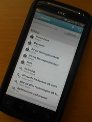 Hootsuite on Android mobile phone