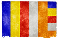 Buddhism Grunge Flag