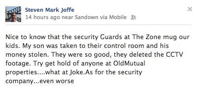 Steven Mark Joffe - The Zone security bullies