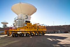 An ALMA Antenna on the Move
