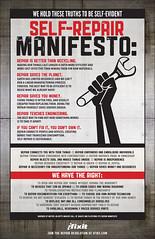 The Self-Repair Manifesto from ifixit.com &quo...