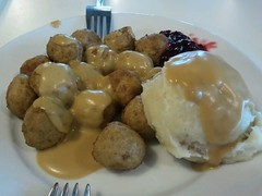 swedish meatballs with lingonberry jam & mashe...