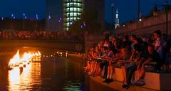 Crowd enjoying WaterFire