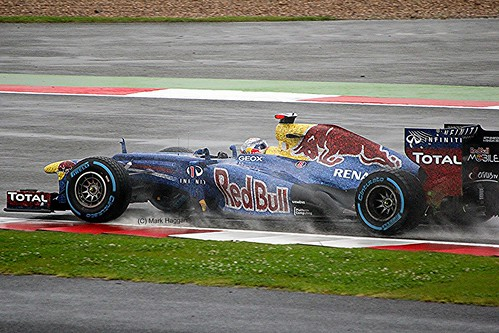 Sebastian Vettel's Red Bull at Silverstone