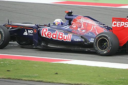 Daniel Ricciardo in his Toro Rosso at Silverstone