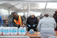 Volunteers after Hurricane Sandy
