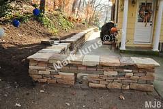 WM Mark Jurus 8, retaining wall, freestanding wall. flat caps stones, dry laid stone construction, copyright 2014