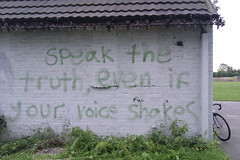 """""""Speak the truth, even if your voice shakes"""" -..."""