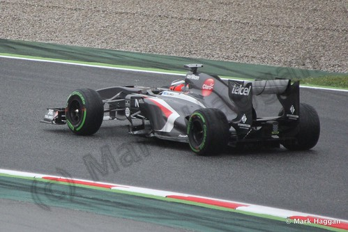 Nico Hulkenberg in his Sauber in Free Practice 1 at the 2013 Spanish Grand Prix