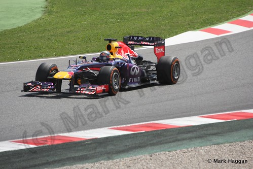 Sebastian Vettel in the 2013 Spanish Grand Prix