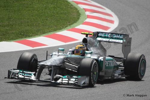 Lewis Hamilton qualifying for the 2013 Spanish Grand Prix
