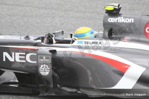 Esteban Gutierrez in Practice 2 at the 2013 Spanish Grand Prix