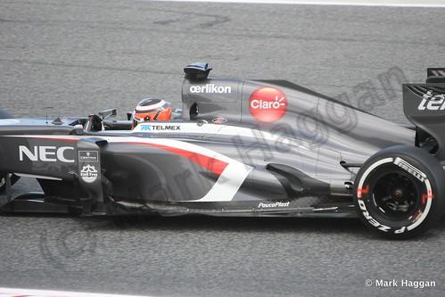 Nico Hulkenberg in Free Practice 2 at the 2013 Spanish Grand Prix