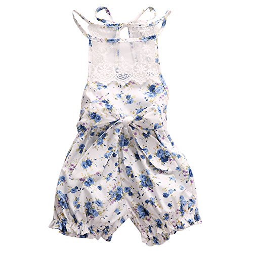 baby floral girl lace clothes newborn months bodysuit outfits jumpsuit backless romper