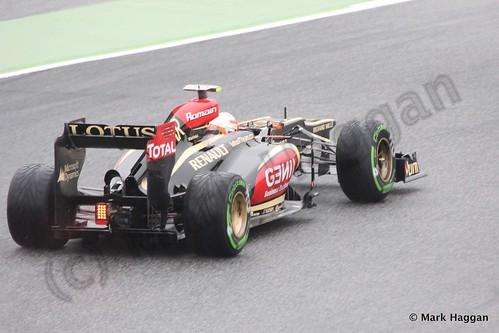 Romain Grosjean in Free Practice 1 at the 2013 Spanish Grand Prix