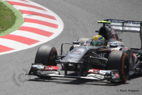 Esteban Gutierrez qualifying for the 2013 Spanish Grand Prix