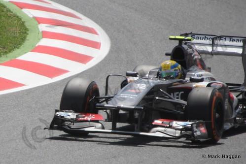 Esteban Gutierrez qualifying for the 2013 Spanish Grand Prix