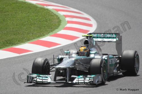 Lewis Hamilton in the 2013 Spanish Grand Prix