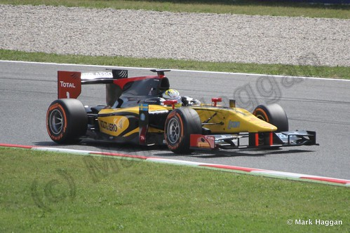 Marcus Ericsson in Saturday's GP2 race at the 2013 Spanish Grand Prix