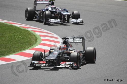 Nico Hulkenberg in the 2013 Spanish Grand Prix