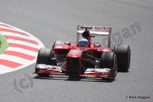 Fernando Alonso in the 2013 Spanish Grand Prix