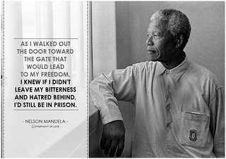 """Nelson Mandela, """"As I walked out the door..."""