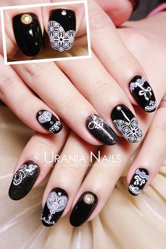蕾絲光療指甲