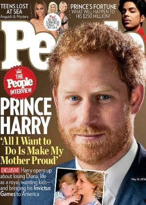 """""""Tudo o que eu quero é deixar minha mãe orgulhosa"""", diz príncipe Harry"""