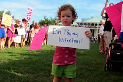 Moral Monday demonstrator