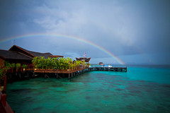 Rainbow at Sipadan Water Village