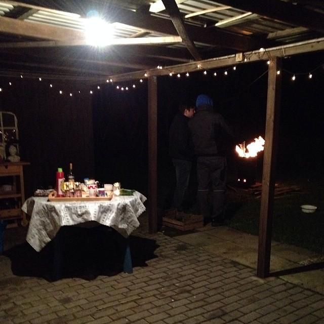 Weihnachtsparty to be... Mit Tonnenfeuer und Glühwein!!! #weihnachten #advent #halloadvent13