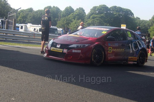 Jeff Smith during the BTCC weekend at Oulton Park, June 2016