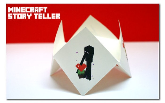 minecraft valentine cootie catcher