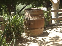 Wine barrel at the Hart Winery, Temecula, California
