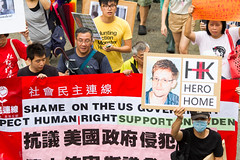 Is Snowden a Hero? / SnowdenHK: 香港聲援斯諾登遊行 Hong...