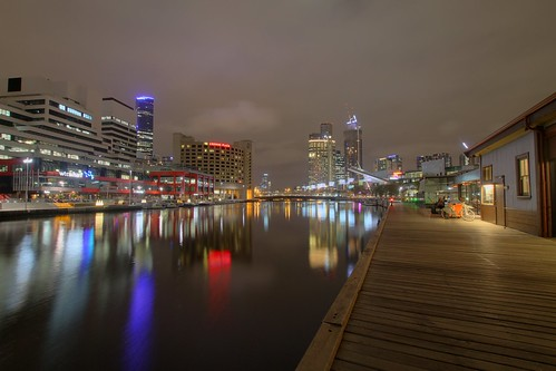 Melbourne Yarra river at night II