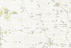South Dakota area map