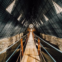 Day 445 - the walkway between steeples in Basilica de Voto Nacional. Quito is a very confusing city to me, I think it would takes years to come close to understanding it. The city is high altitude, but not on a flat like I'd expect, instead it's spread ov