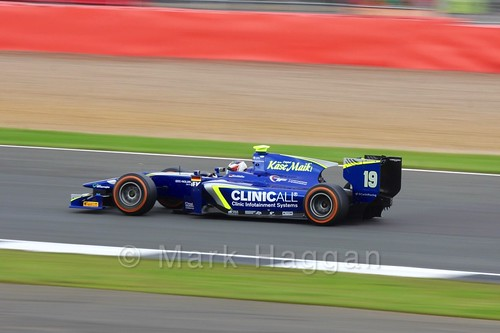 Richard Gonda in the Jenzer Motorsport car in the GP3 Race at the 2016 British Grand Prix