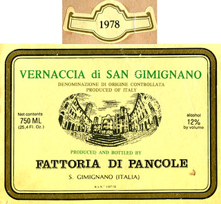 Italy - Vernaccia di San Gimignano 1978