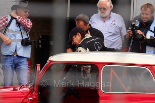 AC/DC's Brian Johnson at the Masters Historic Series at Donington Park, July 2016