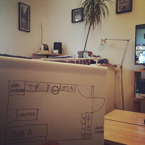 Unser neues #Wohnzimmer @ #Hackerstreet in Planung.  Fortsetzung folgt... #tbc