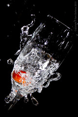 """Cherry Tomato Highspeed Splash • <a style=""""font-size:0.8em;"""" href=""""http://www.flickr.com/photos/65051383@N05/9540896445/"""" target=""""_blank"""">View on Flickr</a>"""